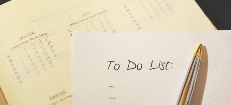 A to-do list