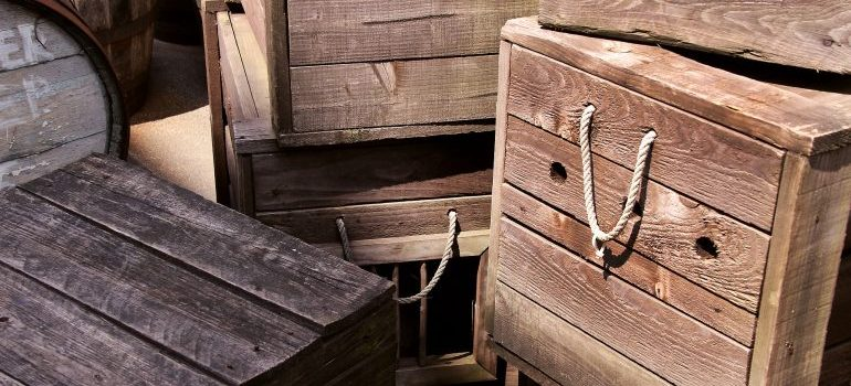 Wooden crates that Crating services Florida use for delicate items